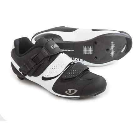 Giro Factress Road Cycling Shoes - 3-Hole (For Women) in Matte Black/White - Closeouts