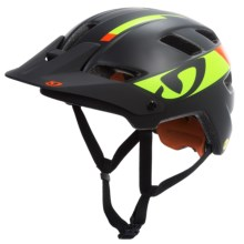 Giro Feature Mountain Bike Helmet - MIPS (For Men and Women) in Matte Black/Lime/Flame - Closeouts