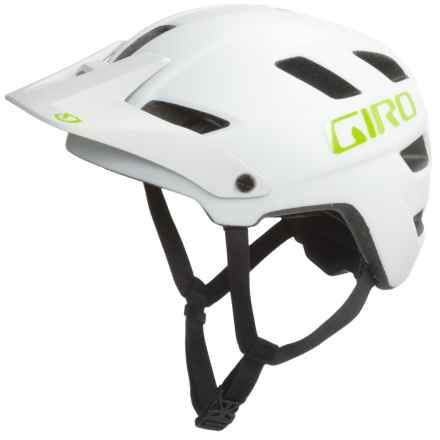 Giro Feature Mountain Bike Helmet - MIPS (For Men and Women) in Matte White/Lime - Closeouts