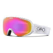 Giro Field Flash Ski Goggles (For Women) in Af White Mini Dots/Amber Pink - Closeouts