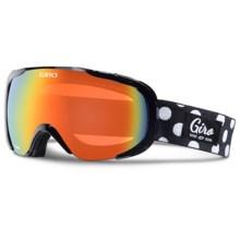 Giro Field Flash Ski Goggles (For Women) in Black Polka Dot/Persimmon Blaze - Closeouts