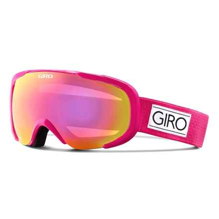 Giro Field Flash Ski Goggles (For Women) in Magenta Mini Dots/Amber Pink - Closeouts