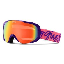 Giro Field Flash Ski Goggles (For Women) in Purple Script/Persimmon Blaze - Closeouts