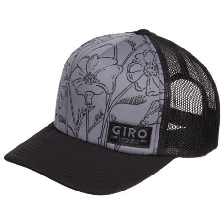 62058a4f8ab Giro Foam Trucker Hat (For Men and Women) in Titanium Cali Poppy