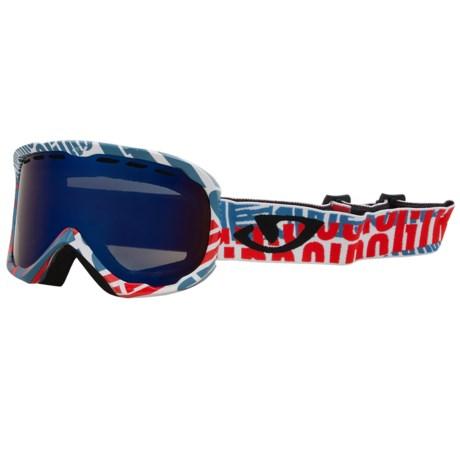 Giro Focus Snowsport Goggle in Blue Fontslice/Grey Cobalt