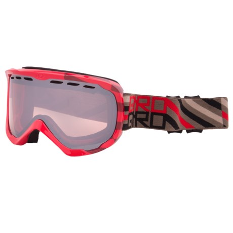 Giro Focus Snowsport Goggle in Red Offset/Rose Silver