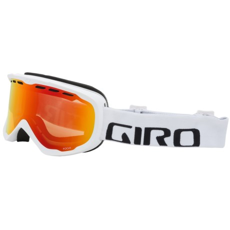 Giro Focus Snowsport Goggle in White Wordmark/Amber Scarlet
