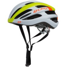 Giro Foray Bike Helmet (For Men and Women) in Matte White/Lime/Flame - Closeouts