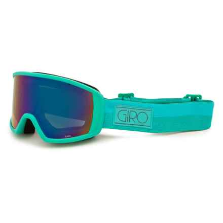 Giro Gaze Ski Goggles (For Women) in Turquoise/Aqua Rails/Loden Dynasty - Closeouts