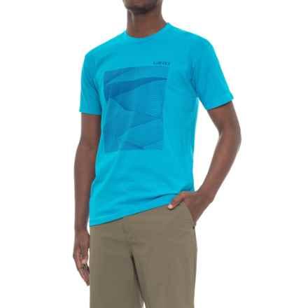 Giro Geo Tech T-Shirt - Cotton Blend, Short Sleeve (For Men) in Blue Jewel Geo Graphic - Closeouts