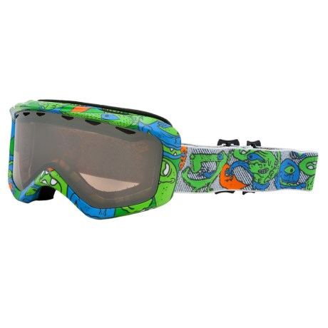 Giro Grade Plus Snowsport Goggles (For Kids and Youth) in Green Monster/Rose Silver 30