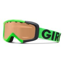 Giro Grade Ski Goggles (For Little and Big Kids) in Bright Green Colorblock/Ar40 - Closeouts