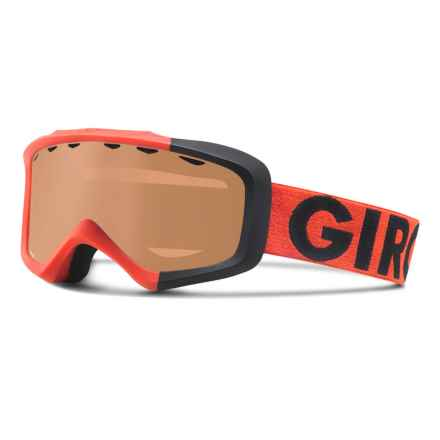 Giro Grade Ski Goggles (For Little and Big Kids) in Glowing Red Colorblock/Ar40 - Closeouts