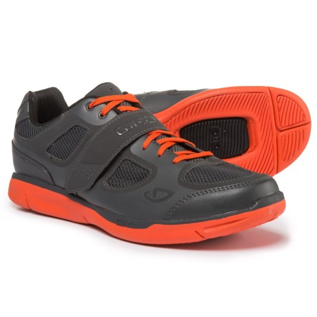 Giro Grynd Mountain Bike Shoes - SPD (For Men) in Dark Shadow/Glow Red