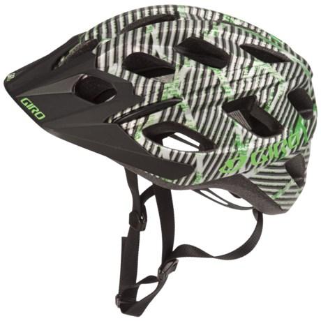 Giro Hex Bike Helmet in Matte Green/Black Lines Logo