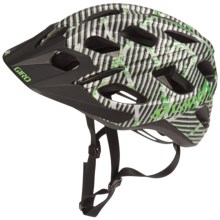 Giro Hex Cycling Helmet in Matte Green/Black Lines Logo - Closeouts