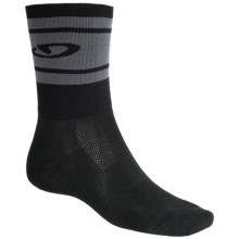 Giro Hi-Rise Cycling Socks - CoolMax®, Crew (For Men and Women) in Black/Charcoal - Closeouts
