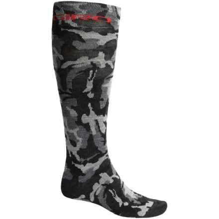 Giro HighTower Cycling Socks - Merino Wool, Over the Calf (For Men and Women) in Black/Camo - Closeouts