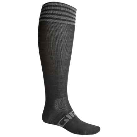 Giro HighTower Cycling Socks - Merino Wool, Over the Calf (For Men and Women) in Black/Grey - Closeouts