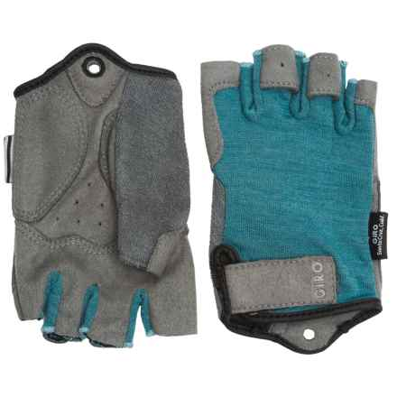 Giro Hoxton Cycling Gloves - Fingerless (For Men and Women) in Industrial Green - Closeouts