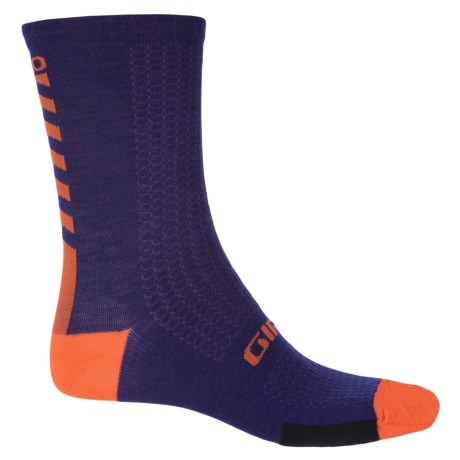 Giro HRc+ Cycling Socks - Merino Wool, Crew (For Men and Women) in Ultraviolet