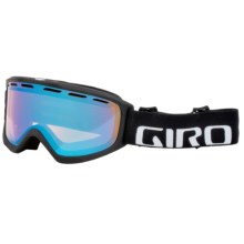 Giro Index OTG Ski Goggles - Flash Lens in Black Wordmark/Persimmon Boost - Closeouts