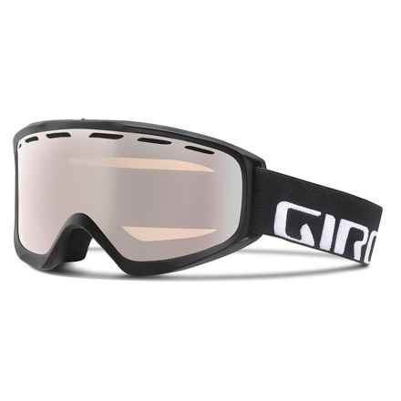 Giro Index OTG Ski Goggles - Flash Lens in Black Wordmark/Rose Silver - Closeouts