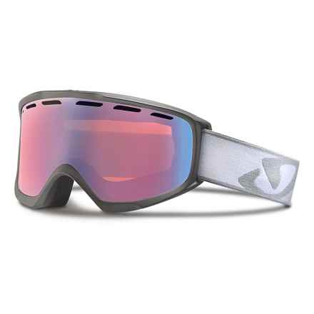 Giro Index OTG Ski Goggles - Flash Lens in Titanium Icon Streak/Persimmon Boost - Closeouts