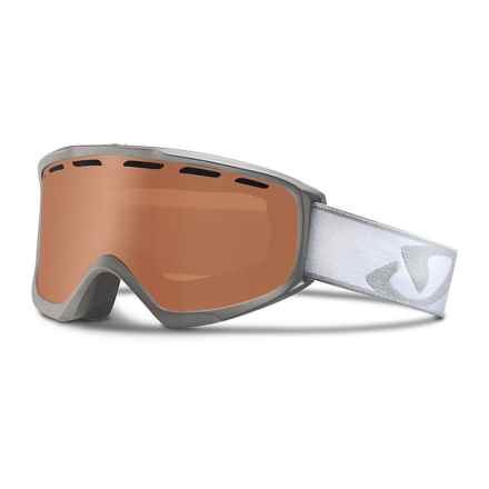Giro Index OTG Ski Goggles in Titanium Icon Streak/Amber Rose - Closeouts