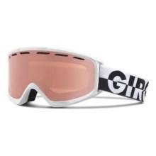 Giro Index OTG Ski Goggles - Polarized in White 50-50/Rose - Closeouts