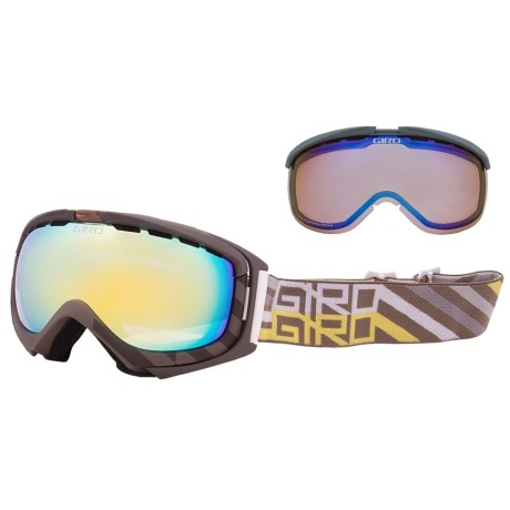Giro Manifest Flash Snowsport Goggles - Interchangeable Lens in Tank Offset/Loden Yellow 20