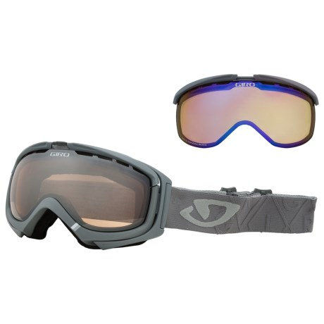 Giro Manifest Flash Snowsport Goggles - Interchangeable Lens in Titanium Angles/Rose Silver 30