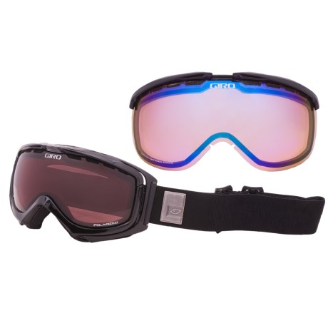 Giro Manifest Snowsport Goggles - Polarized, Interchangeable Lens in Black Pearl Monolithe/Persimmon Boost 52