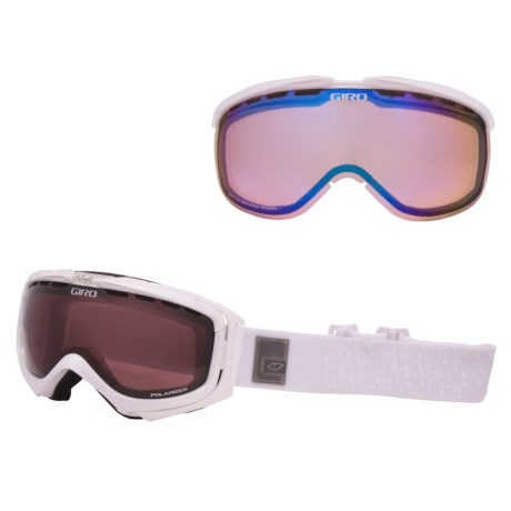 Giro Manifest Snowsport Goggles - Polarized, Interchangeable Lens in White Pearl Monolithe/Persimmon Boost 52