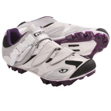 Giro Manta Mountain Bike Shoes - SPD (For Women) in White/Silver/Plum - Closeouts