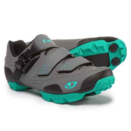 Giro Manta R Mountain Bike Shoes - SPD (For Women) in Charcoal/Turquoise - Closeouts