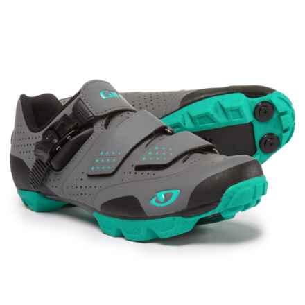 Giro Manta R Mountain Bike Shoes - SPD (For Women) in Charcoal/Turquoise - Closeouts