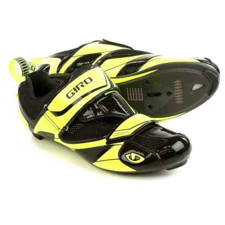 Giro Mele Tri Cycling Shoes - 3-Hole (For Men) in Black/Highlight Yellow - Closeouts