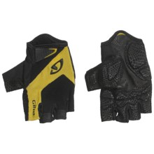 Giro Monaco Cycling Gloves - Fingerless (For Men and Women) in Black/Yellow - Closeouts
