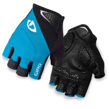 Giro Monaco Cycling Gloves - Fingerless (For Men and Women) in Blue Jewel/Black - Closeouts