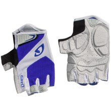 Giro Monaco Cycling Gloves - Fingerless (For Men and Women) in Blue/White - Closeouts