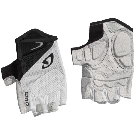 Giro Monaco Cycling Gloves - Fingerless (For Men and Women) in White/Black