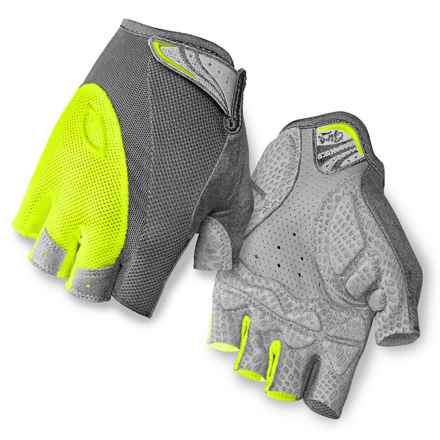 Giro Monica Cycling Gloves - Fingerless (For Women) in Titanium Highlight Yellow - Closeouts