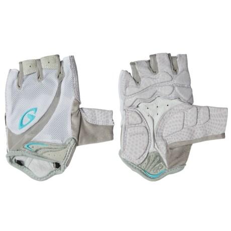 Giro Monica Cycling Gloves - Fingerless (For Women) in White/Milky Blue