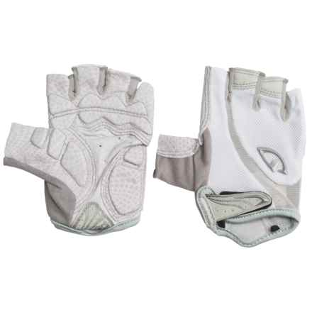 Giro Monica Cycling Gloves - Fingerless (For Women) in White/Silver - Closeouts