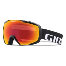 Giro Onset Ski Goggles in Af Black Wordmark/Amber Scarlet - Closeouts