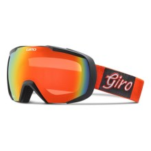 Giro Onset Ski Goggles in Glowing Red Gameday/Persimmon Blaze - Closeouts