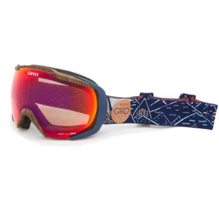 Giro Onset Ski Goggles in Indigo/Amber Scarlet - Closeouts