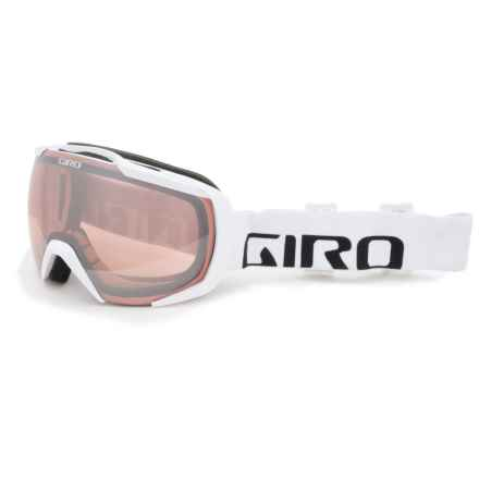 Giro Onset Ski Goggles in White Wordmark/Rose Silver - Closeouts