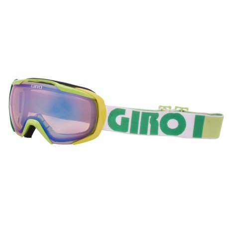 Giro Onset Snowsport Goggles in Yellow Color Block/Persimmon Boost 52
